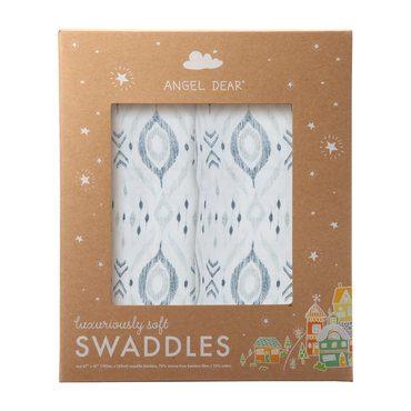 Grey Ikat Swaddle 2 Pack