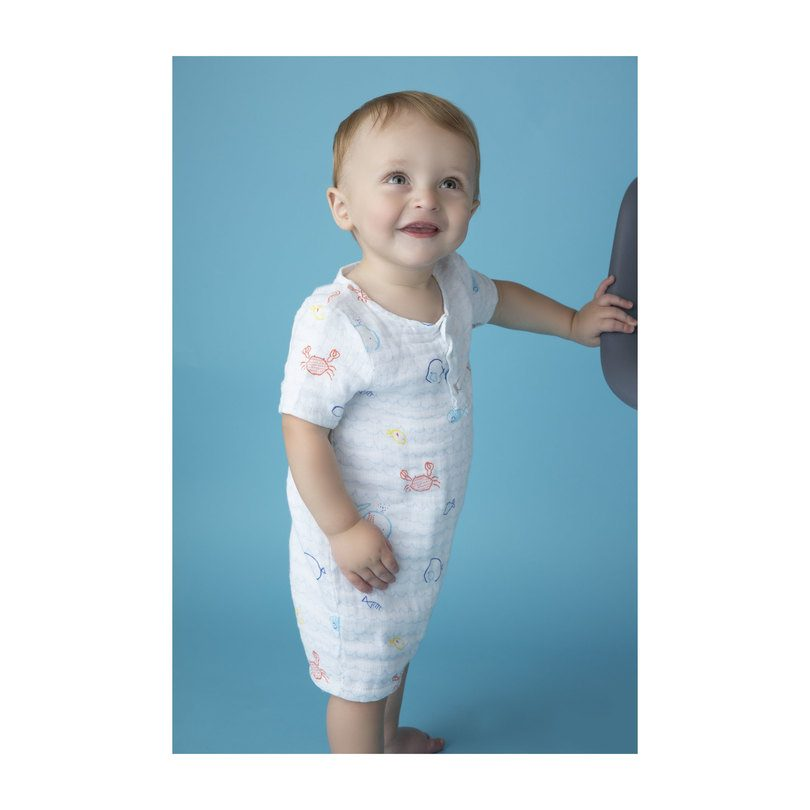 Muslin Henley Shortall, Little Fishies