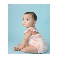 Muslin Sunsuit, Peach