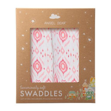 Pink Ikat Swaddle 2 Pack