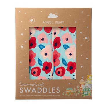 Poppies Swaddle 2 Pack
