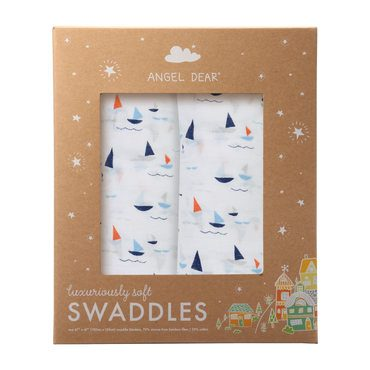 Sail Boats Swaddle 2 Pack