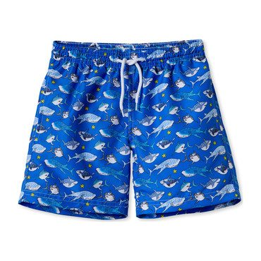 Blue Shark Trunks