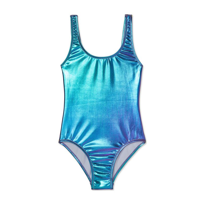 Cloud Charm Metallic Mermaid Swimsuit