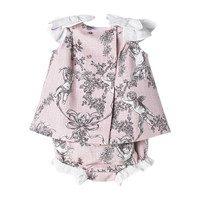 Toile de Jouy Baby Dress, Pink