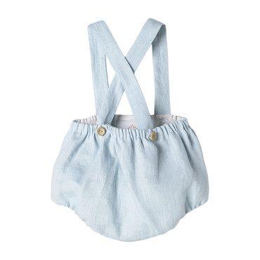 Linen Baby Bloomers, Light Blue