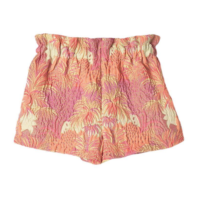 Floral Jacquard Short, Orange
