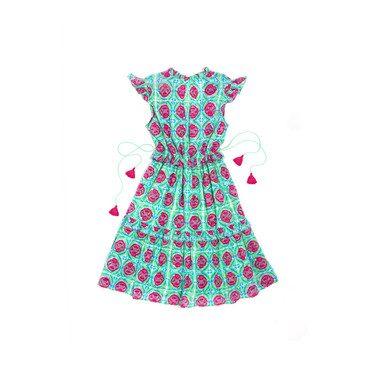 Adult Chandra Mini Dress, Jade Botanical