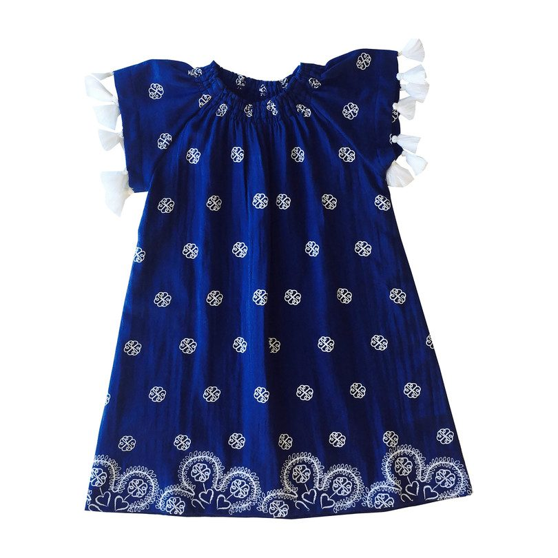 8b1b03004b9b Hadley Smocked Tassel Tunic, Navy Embroidery - Sun Shop - Maisonette