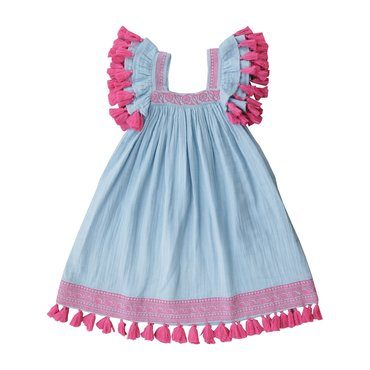 Serena Dress, Sky Blue