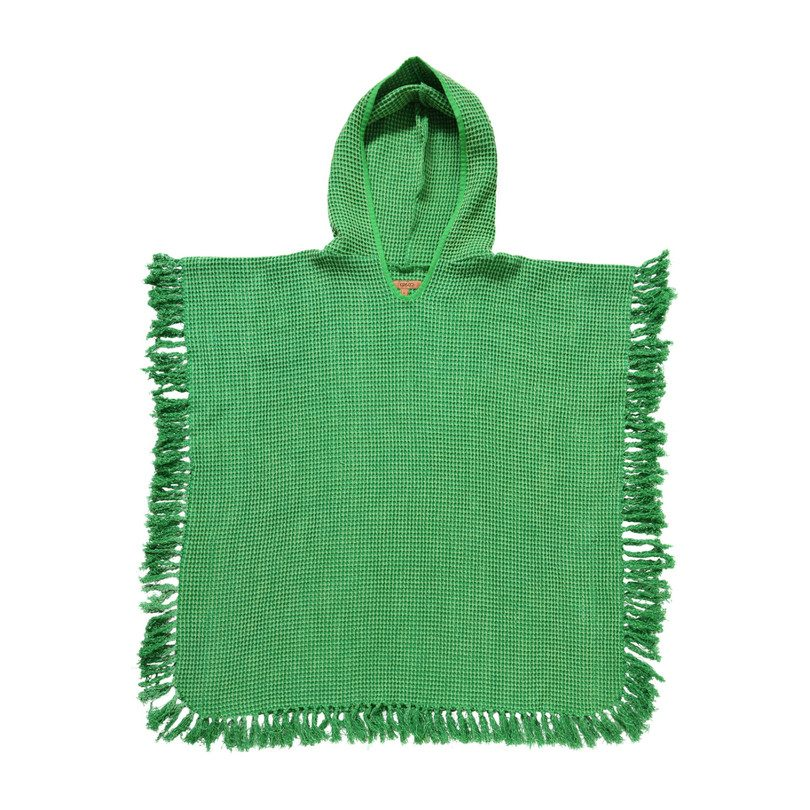 Waffle Poncho, Frog Green