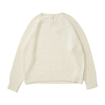 *Exclusive* Boucle Pullover, Milk