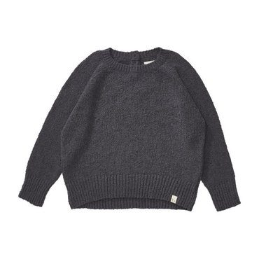 *Exclusive* Boucle Pullover, Blue Grey