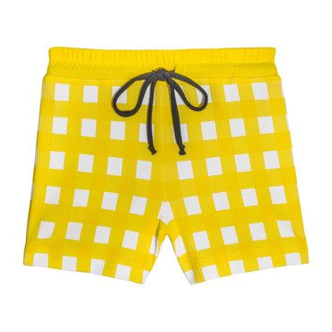 *Exclusive* Boy Shorts, Yellow Gingham