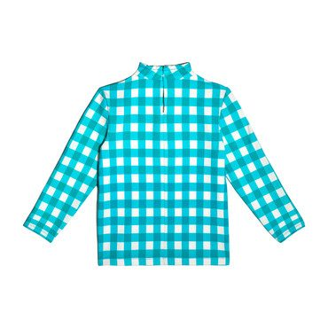 *Exclusive* Rash Guard, Mint Gingham