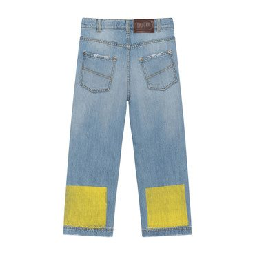Ant Jeans, Indigo with Red & Yellow
