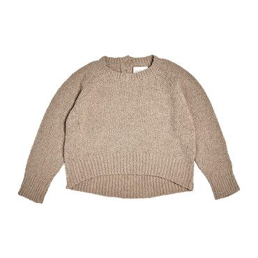 Wide Body Boucle Pullover, Oatmeal