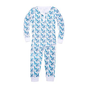 "Kids ""Kath the Tiger"" Pajamas, Teal"