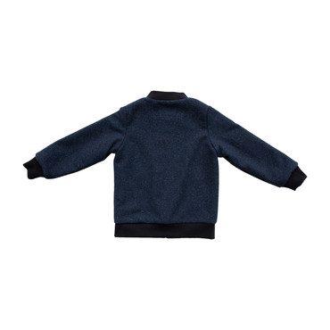Aviator Zip, Navy Boiled Wool