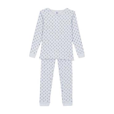 Child Pajamas, Grey with Anchors