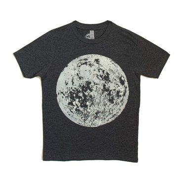 Full Moon Tee, Heather Black