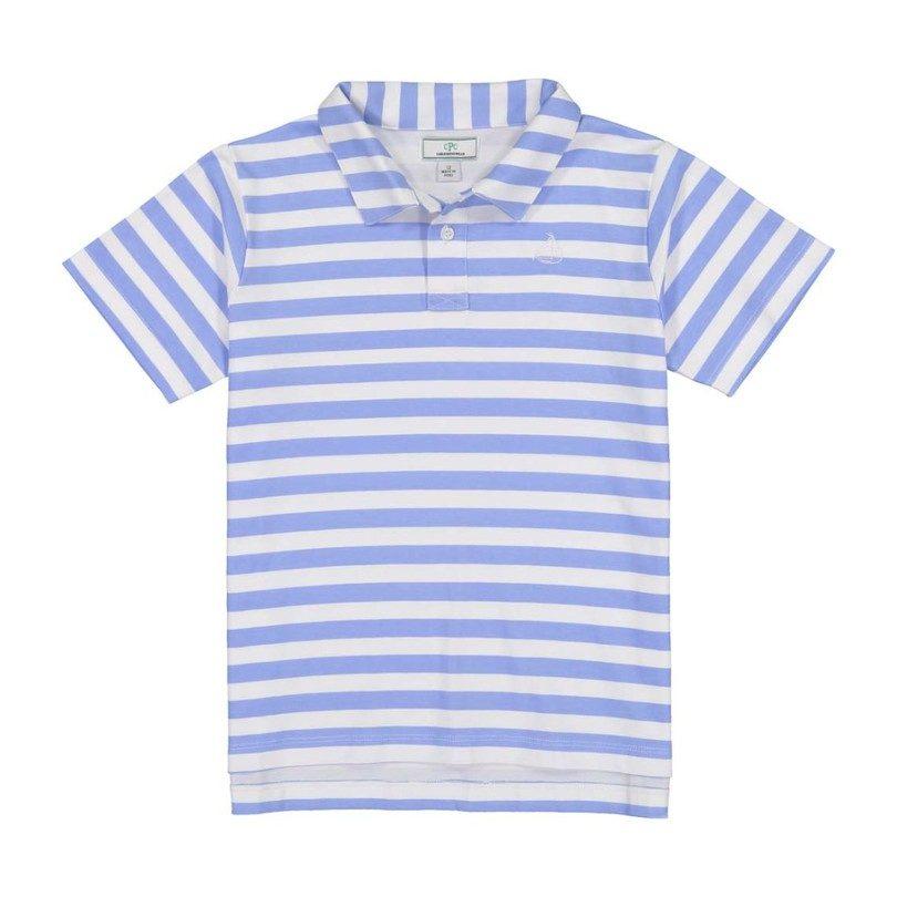 Henry Boys Short Sleeve Polo, Cornflower Blue