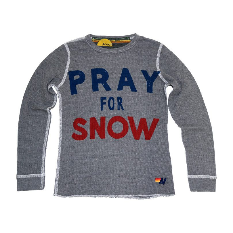 Pray for Snow Thermal, Heather Grey
