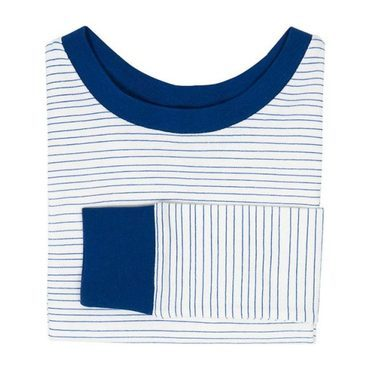 Kids Painted Stripe Sleep Set, Cobalt