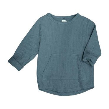 Paz Quilted Sweatshirt, Storm Blue