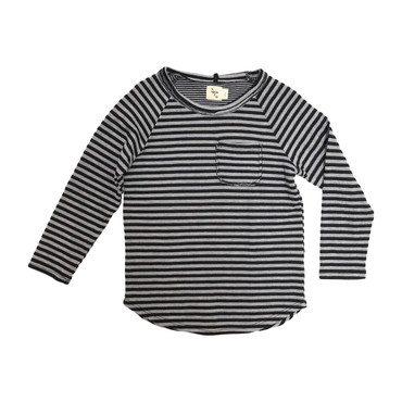 Perry Long Sleeved T-Shirt, Black Stripes