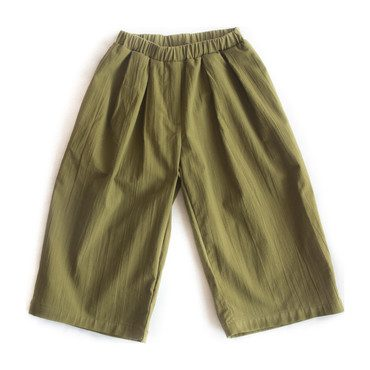 Culotte Pant, Cyprus Green
