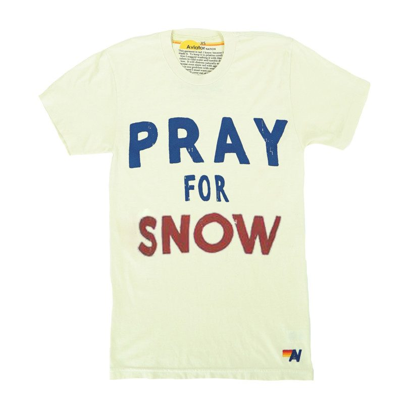 Adult Pray for Snow Tee, Vintage White