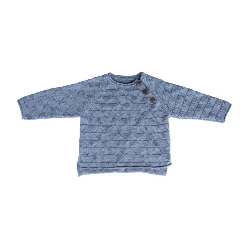 Triangle Sweater, Dusty Blue