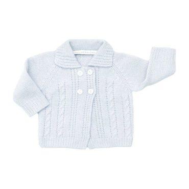 Cashmere Sweater Jacket, Ice Blue