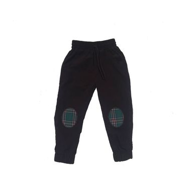 Patch Jogger Pants, Brown