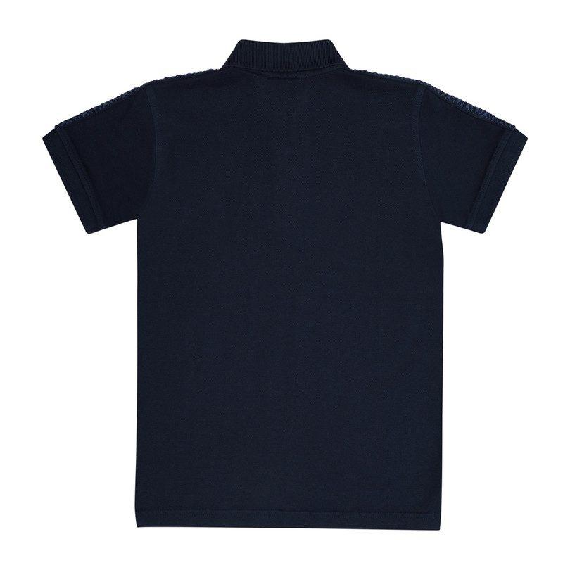 Rupert Polo Shirt Navy Cotton Tops Maisonette