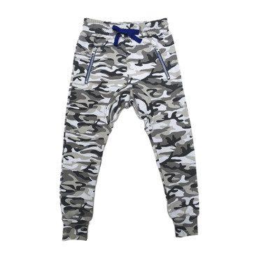 Camouflage Drop-Crotch Pants