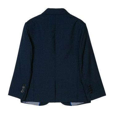 Cool Wool Suit Jacket, Navy