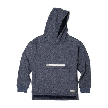 French Terry Cruise Hoodie, Heather Navy