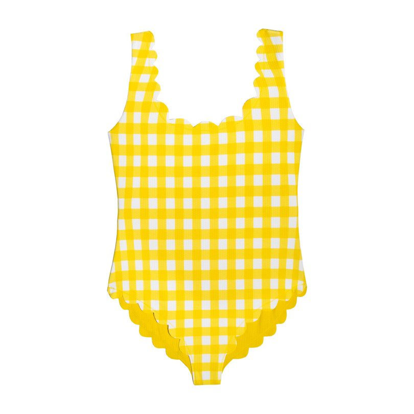 *Exclusive* Girls Palm Springs One Piece, Yellow