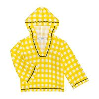 *Exclusive* Womens Gingham Hoodie, Yellow Gingham