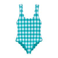 *Exclusive* Womens Palm Springs One Piece, Mint Gingham
