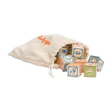 Classic ABC Blocks in Canvas Bag