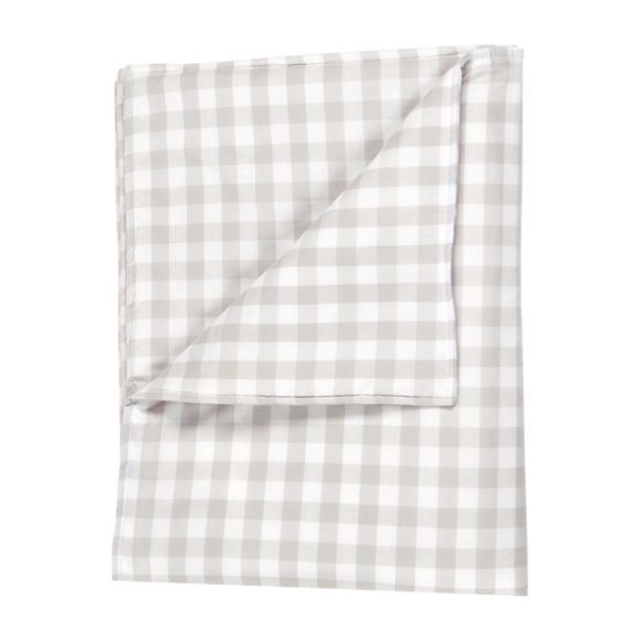 Small Blanket in Beige Gingham Cotton