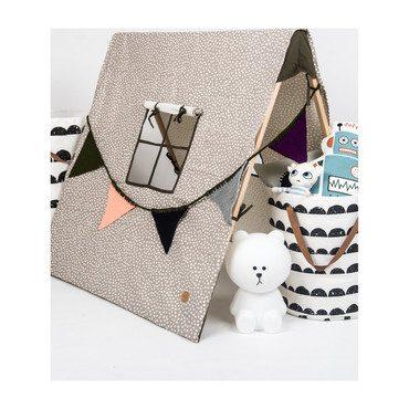 Grey Dots Tent