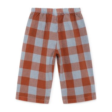 Vichy Baggy Trousers, Red Clay