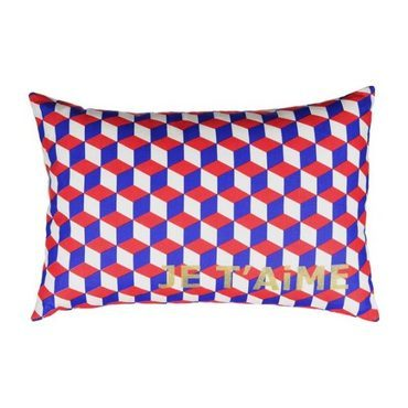 """""""Je t'aime"""" Geometric Cushion"""