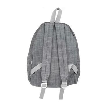 Monogrammed Chambray Medium Backpack, Grey