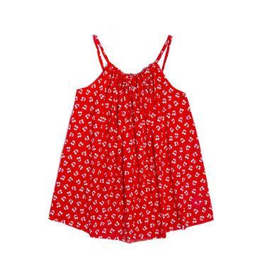 Beachie Dress, Cherry Cherry in Red