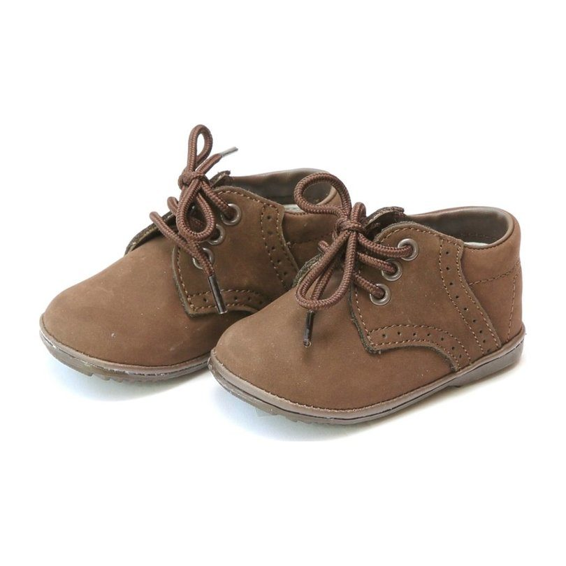 Baby James Nubuck Leather Lace Up Shoe, Brown